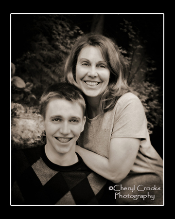 This mother-son portrait was made during Brian's senior photo session.