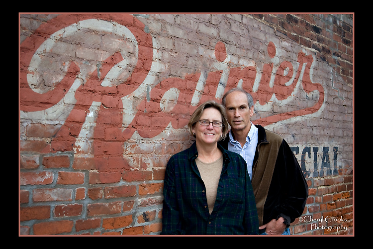 Margaret and Mark, clients and friends, were out for a walk one evening when I was making some test images of the Rainier wall. I asked if they would model for me.