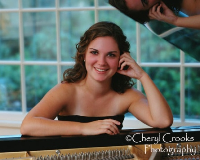 Julia was a senior when I photographed her at the piano. Today, she's a busy accompanist and musical director in Seattle, WA.