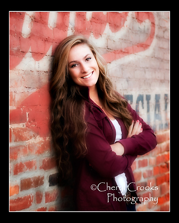 Katie came in and asked for 'something with bricks' as a setting for her senior portrait.. No problem there.