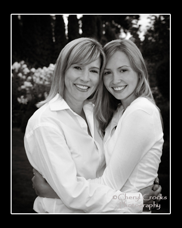 I love this portrait of mother and daughter. See how their embrace is even a heart shape?