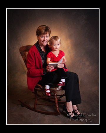 Taken in the studio, this beautiful portrait was created as a Christmas gift.