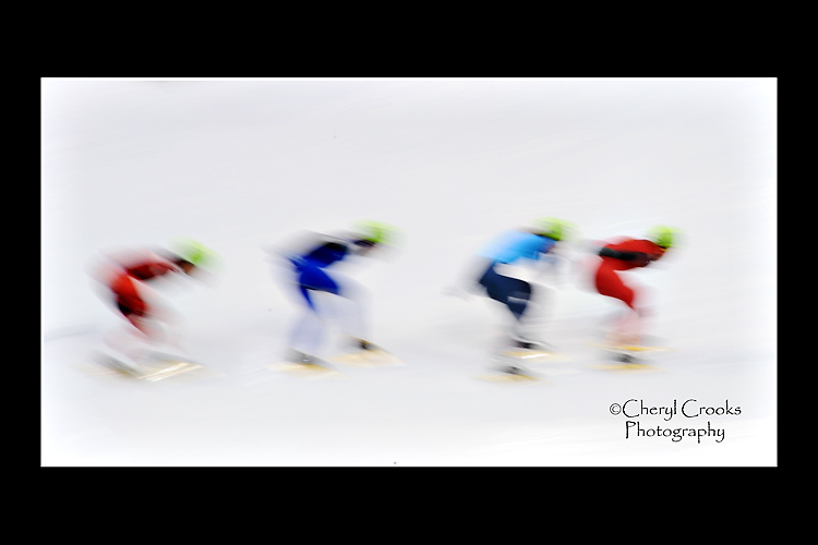 Changing my shutter speed helped capture the incredible, treacherous speed of the sport.