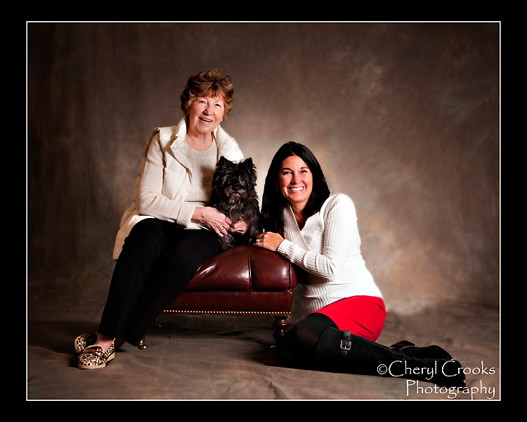Sometimes a mother-daughter portrait must include the canine kind!