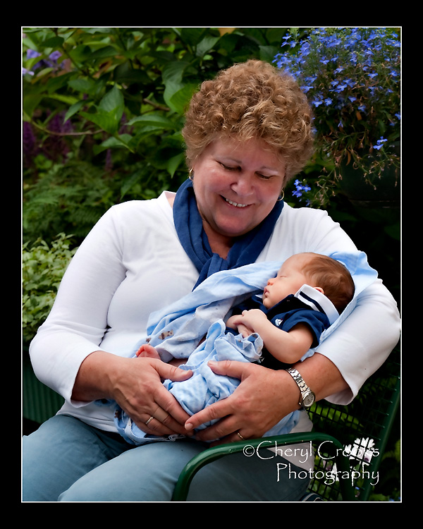 Only three weeks old, Lyle was Wendy's first grandchild. You can tell how extremely proud she is in this loving, tender portrait of the two of them. A newborn portrait instantly becomes a family heirloom because they grow and change so very quickly.