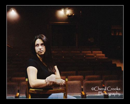 Marla Bronstein's daughter, Zoe, also has pursued her love for theatre in Bellingham and in San Francisco where she attended college.  She's shown here at the Bellingham Theatre Guild where I photographed her for her  high school senior portrait.