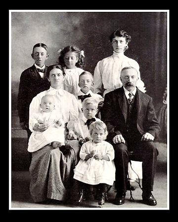 One of the family portraits that eileen Andersen found when researching her family history. Faces from the past bring us realizations and discoveries about who we are today.