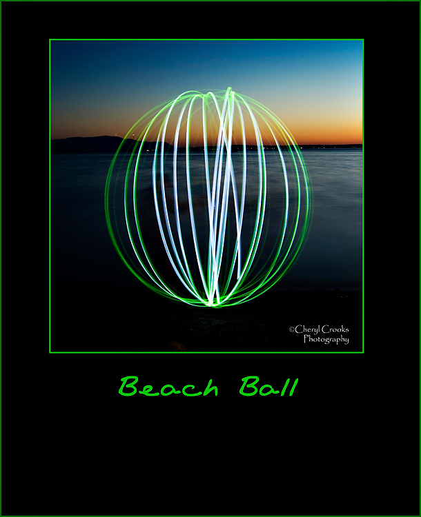 Another kind of beach ball. This one only bounces light!