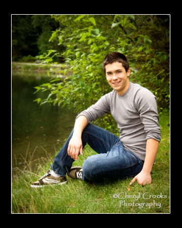 The park was a favorite place for Marcus to hang out and walk his dog so it was a natural location for his senior portrait.