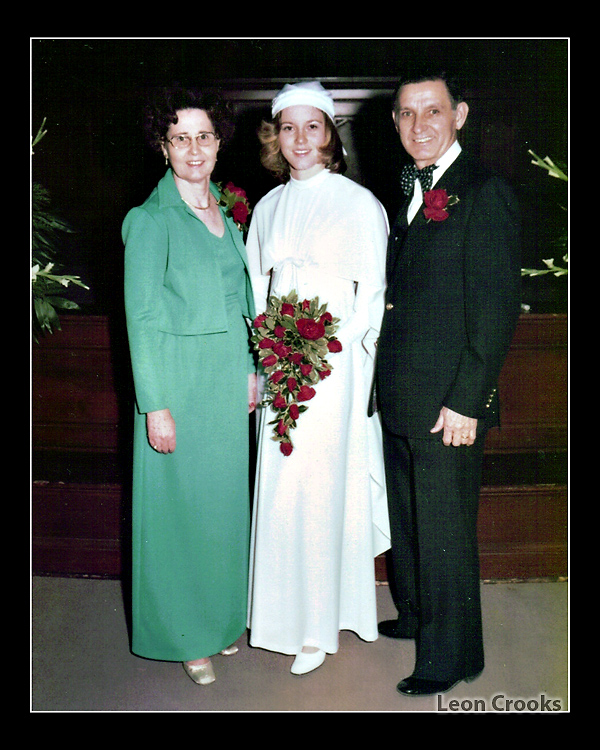 Professional wedding pictures can often be replaced because professional photographers archive the original negatives or digital files.  And yes, that's me in the center.