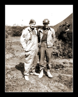 My Dad met up with his older brother, Dale, for a day's visit during World War II in Italy.