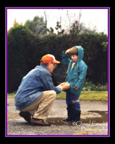 As a grandfather to my sons, my Dad was always ready to lend a helping hand or teach them how to do something whenever he was around.