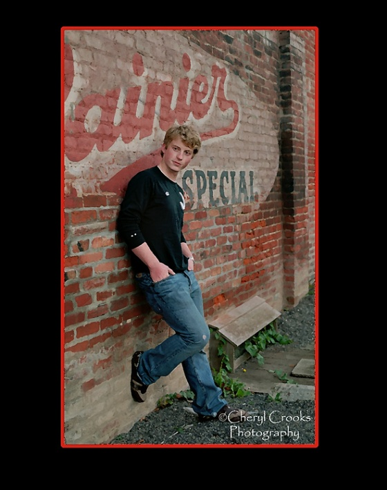 The old Rainier wall advertisement of Fairhaven's Morgan Block was a popular setting by seniors for their senior portrait.