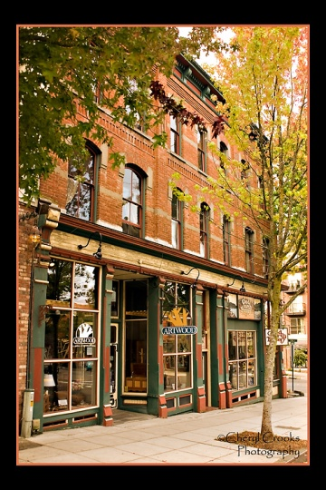 Fairhaven's historic Morgan Block building was completed in 1890 for $8,000.  A local landmark, it has been a popular setting for many of my senior portraits.