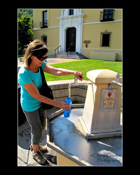A free fill-up from the fountains placed in the city's center flow with water is popular with both visitors and locals.