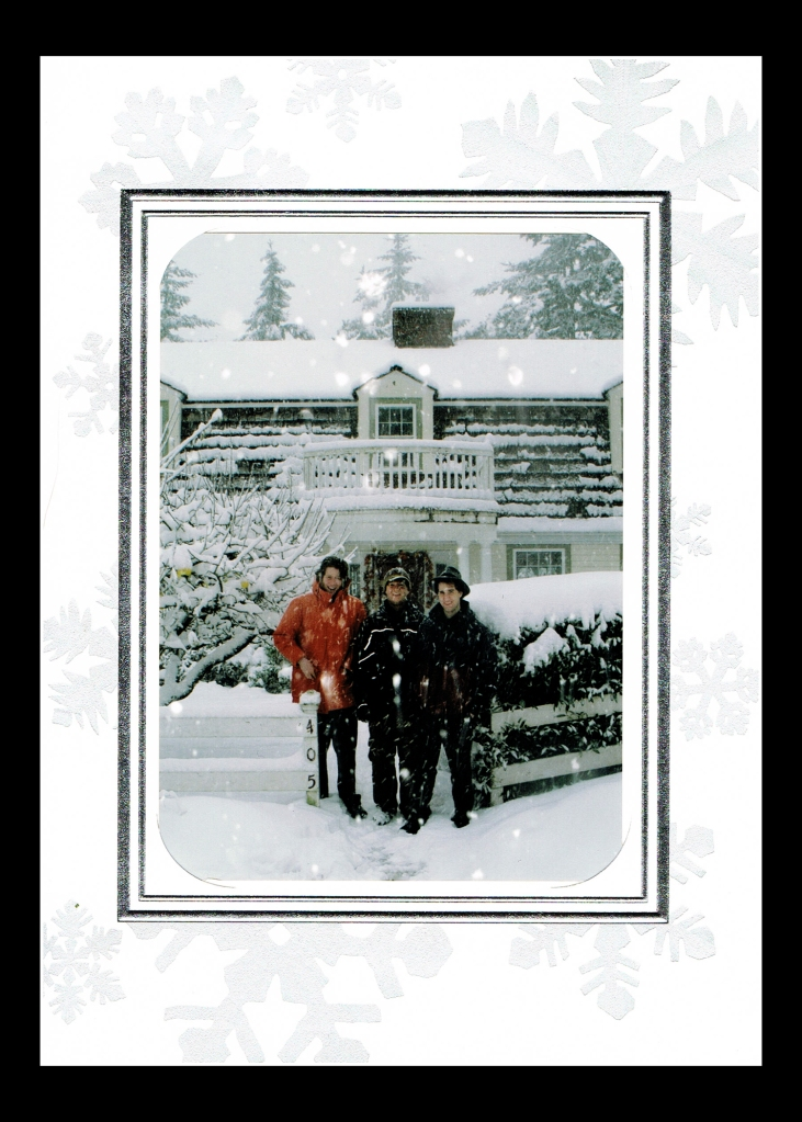 This is one of my family favorites. I made this photo of my sons during a pre-Christmas snowstorm.