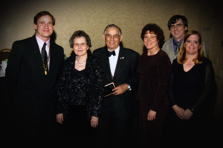 In 2008, my father was presented with a special award by the Kansas Professional Photographer Association for his lifelong contribution and work in the profession.  My mother,  my two brothers, my sister-in-law and I were there to help honor him.