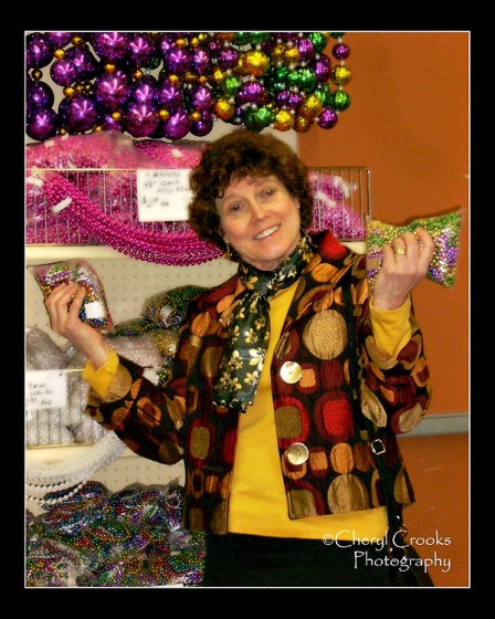 A trip to buy beads and Mardi Gras decoartions at Accent Annex is great fun.