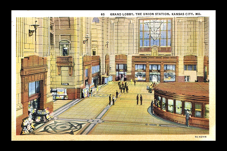 The postcard my father send from Union Station is pictured here.