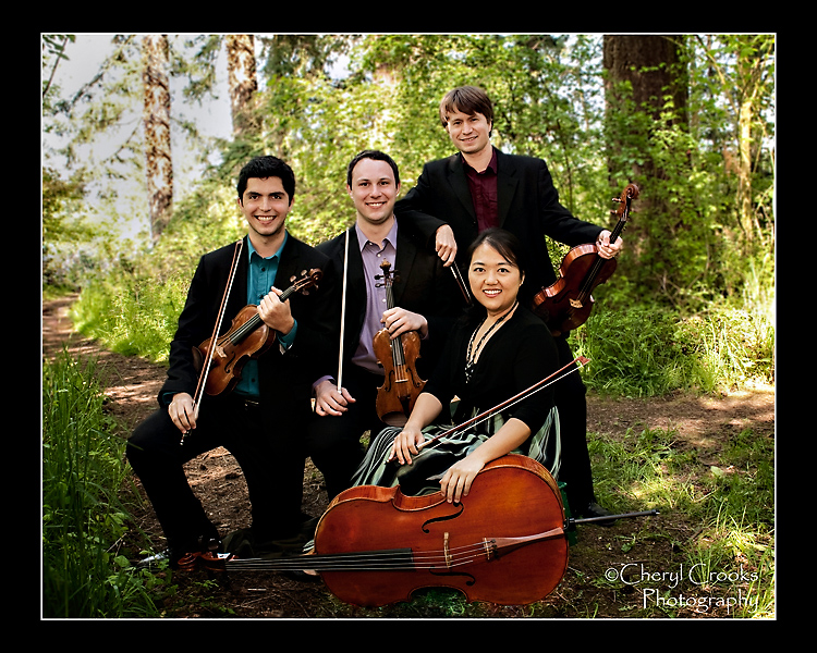 The Calidore String Quartet visits the Pacific Northwest to perform in the Bellingham Festival of Music.