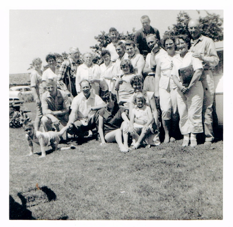 the family lines up at a reunion for a group photo that preserves the day forever.