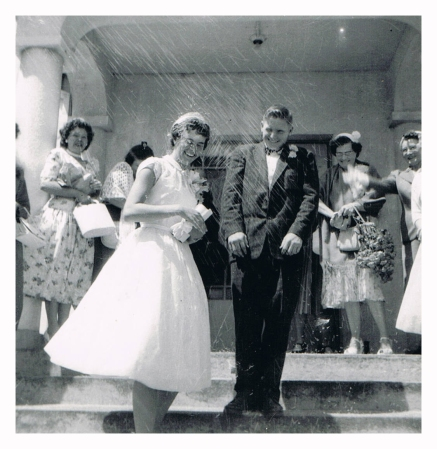 My cousin had never seen this photo of her parents taken on their wedding day.