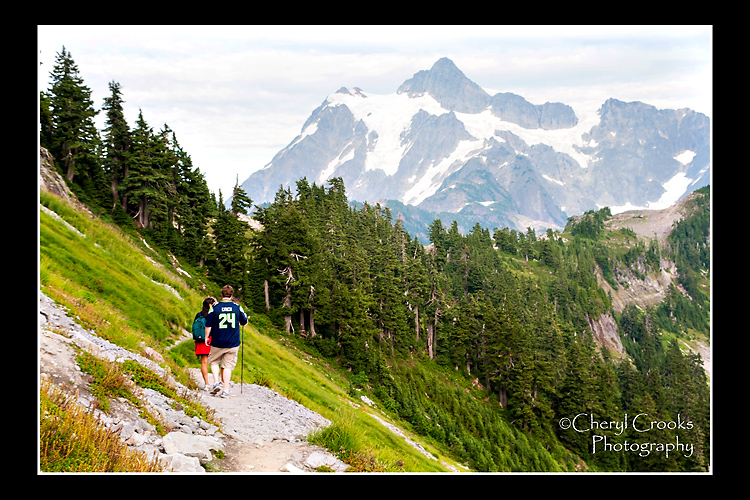 You must be sure to take in the views on the way out as well as the way in because it will be different. Mount Shuksan's jagged pinnacle takes prominence here.