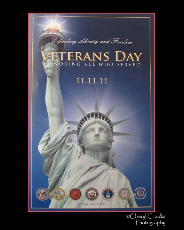 The program cover from the Parsons VFW Veterans Day ceremony in 2011. Coincidentally the date of this event was 11/11/11. The original Armistice Day was declared to commemorate the World War II armistice signed on the 11th hour of the 11th day of the 11th month.