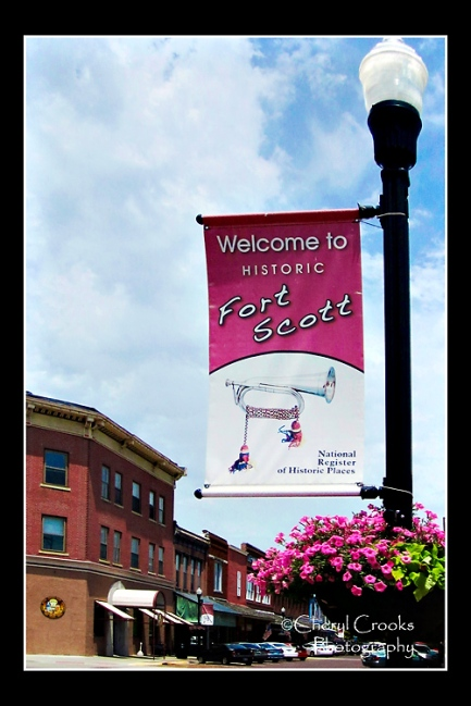 The lamp post banner welcomes visitors to the town's historic center. Beisdes strolling the downtown blocks, be sure to stop at the Gordon Parks Museum.