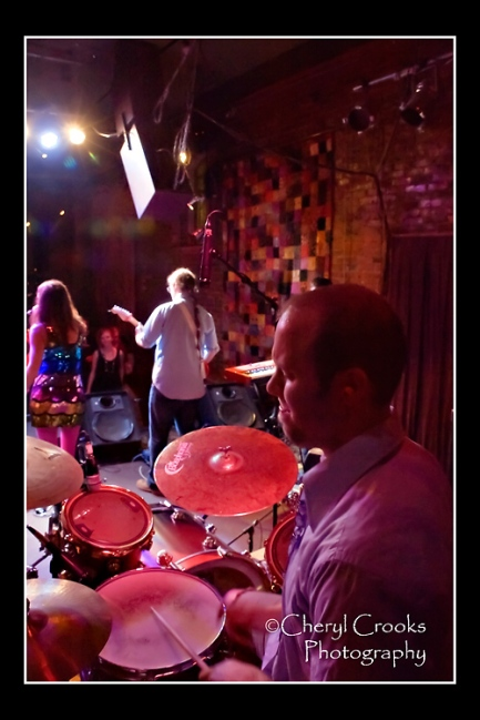 Drummer Marshall Petryni lays down the funky beat for Seattle's funk band, the Fabulous Party Boys.