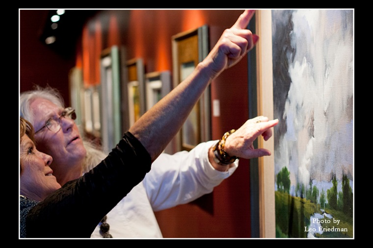 Art Walk offers people a chance to view a variety of fine art by local artists.