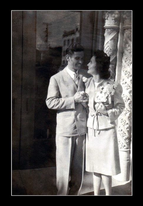 My mother and father oustide the church in Phoenix after their wedding.