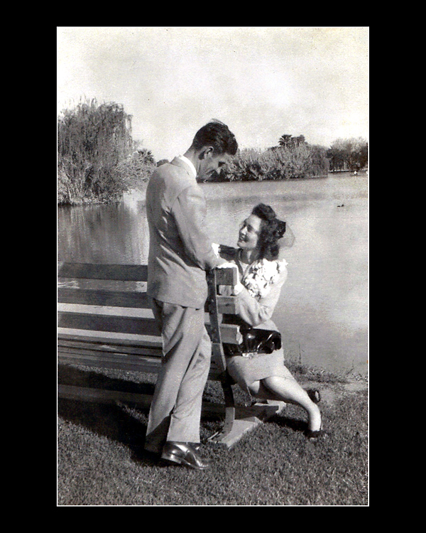 On their wedding day in Phoenix, my parents were pictured here, so in in love, in Phoenix' beautiful Encanto Park.