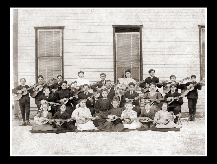 My great aunt is among these budding guitarist in this historical photo taken of her class in 1907.