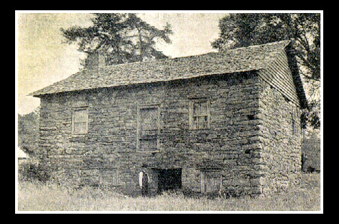 Adam Sprach's rock house had a basebment with an outside entrance so he could herd his cattle inside when under attack.