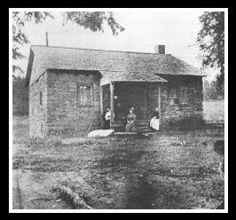 This was the North Carolina home of one of my relatives. Even though it's a pixelated image, you can get an idea of what the house looked like.