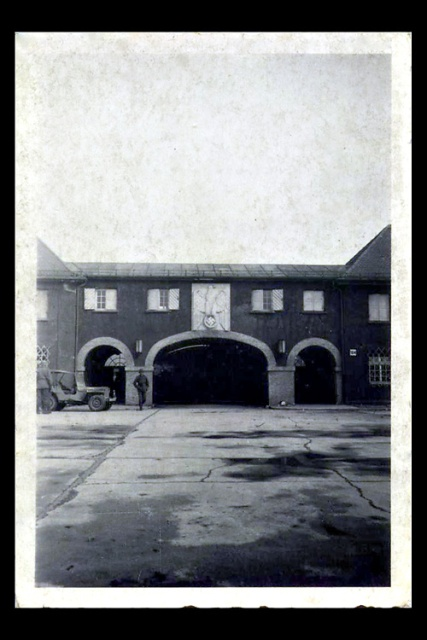 The main gate to Dachau through which my father entered with the men in his unit.