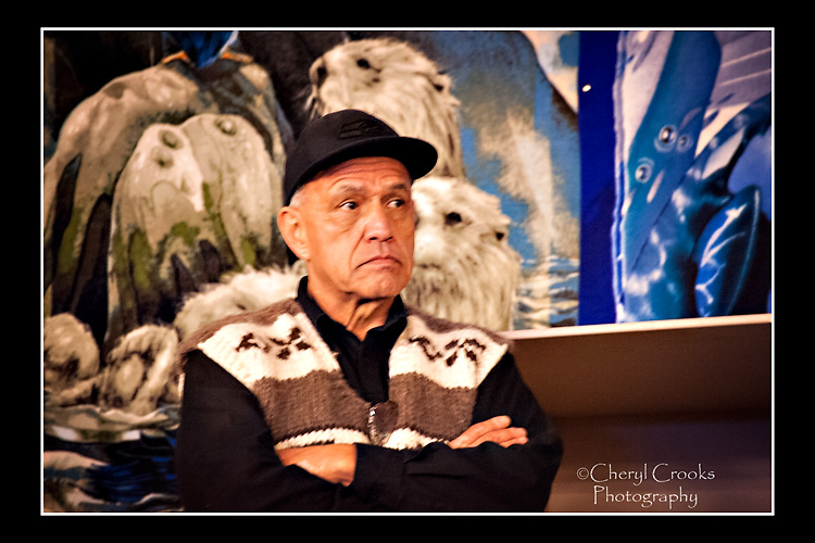 Lummi Elder Darrell Hillaire was among those at the Global Climate March.