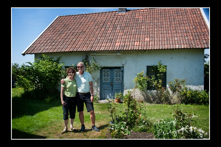 This summer, Sivert and I returned to the farm in Anga where we took a photo beside the cottage where my great grandfather had lived.