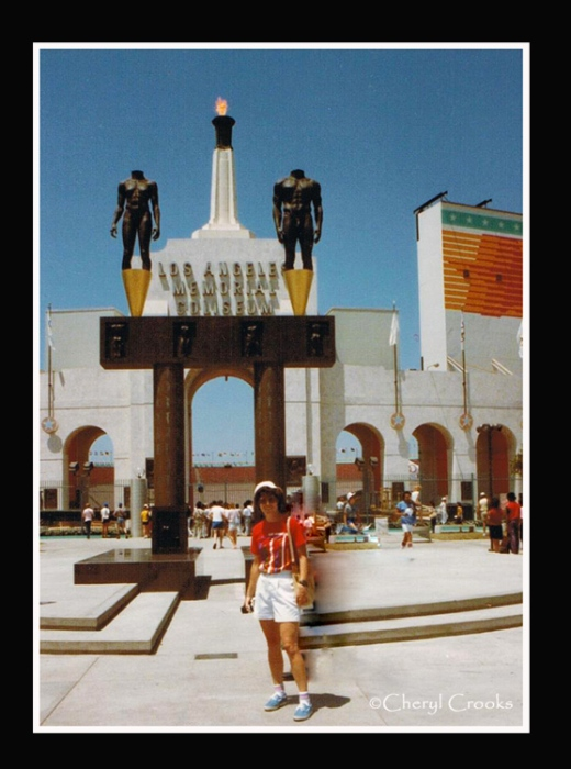 Along with others in the Los Angeles bureau, I covered the 1984 Olympics for TIME Magazine. On one of my day's off, I visited the L.A. Coliseum, where the opening and closing ceremonies and some of the track and field events took place.