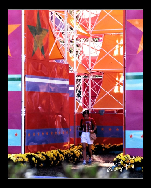 The Olympic venue at Lake Casitas was a colorful place as you can see here in this photo of me walking through one of the main entrances.