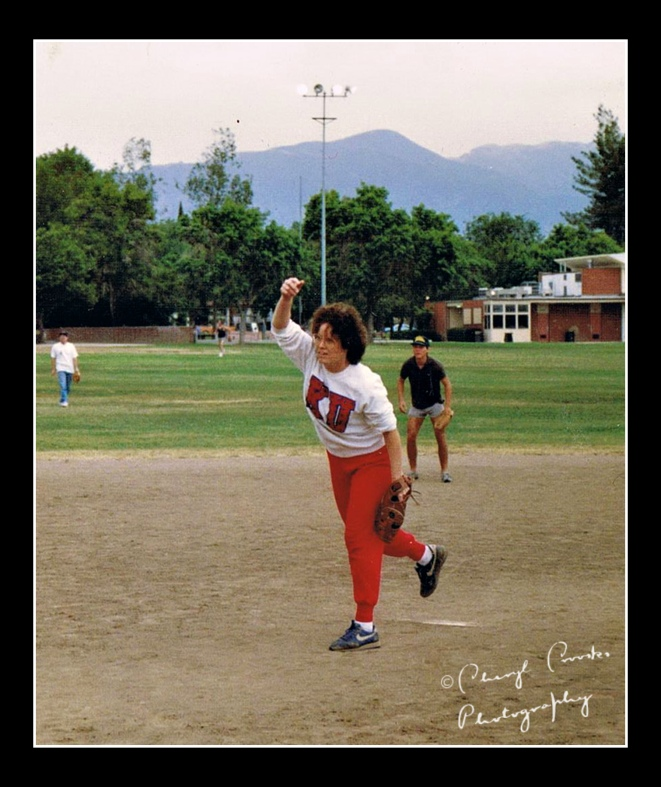 In Los Angeles, we played softball on Sunday afternnoons. Sometimes I pitched.