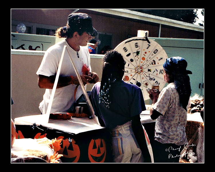 Games at the Halloween Festival were designed to teach the kids concepts such as chance and probability.