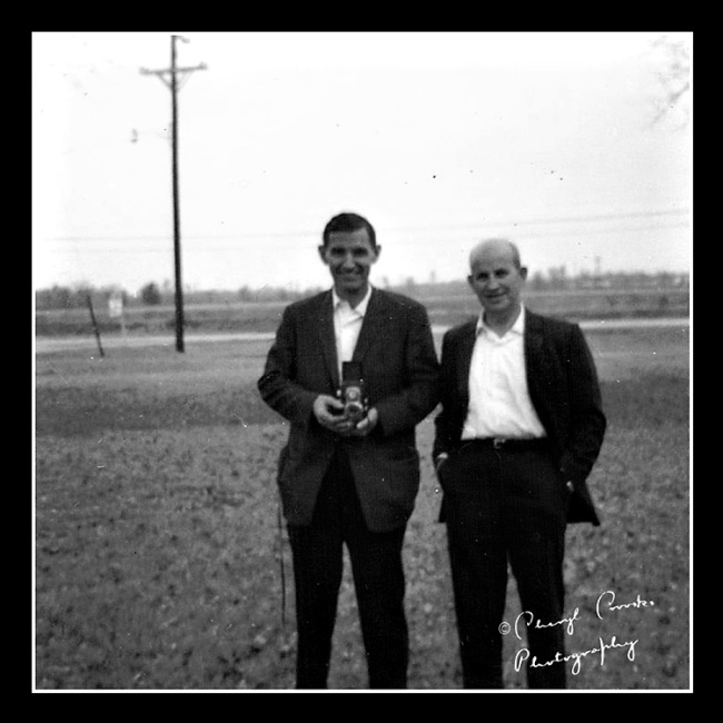 My uncle Joe, right, taught me to play baseball. My Dad taught me photography.