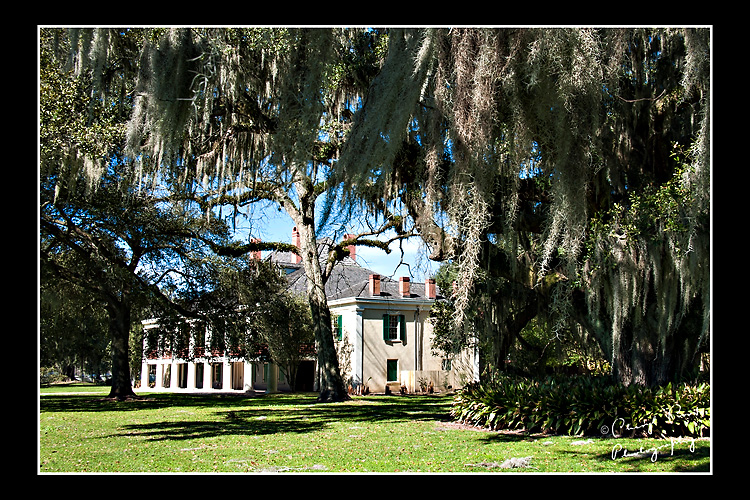 The main house of Destrehan Plantation was built in 1790 in the French Colonial style.